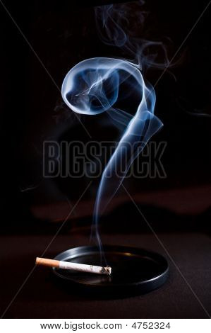 Cig And Smoke Questionmark
