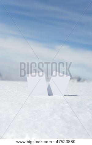 Ski Lift Winter Sport Admission Card
