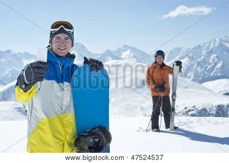 Lift Pass And Winter Sport Friends