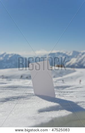 Blank Snow Business Card Lift Ticket