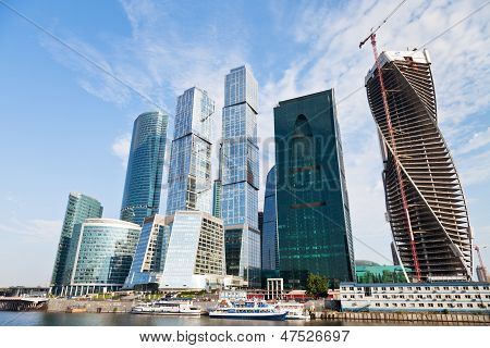 View Of The Moscow City Towers