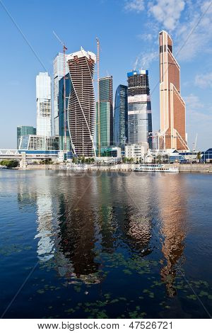 Moscow City Buildings And Moskva River