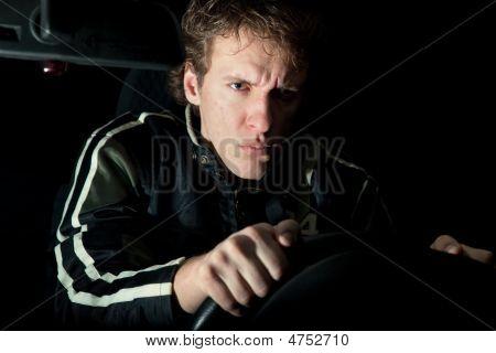 Aggressive Driver In The Dark