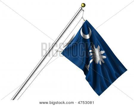 Isolated South Carolina Flag