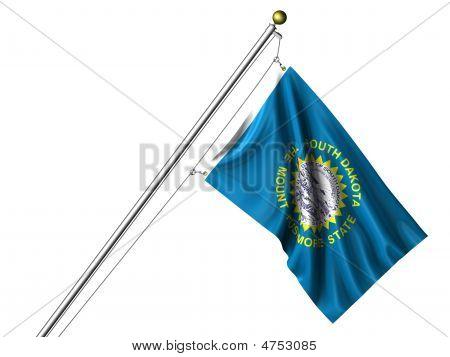 Isolated South Dakota Flag