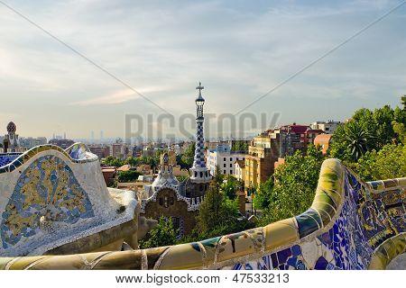 Park Guell. Barcelona, Spain