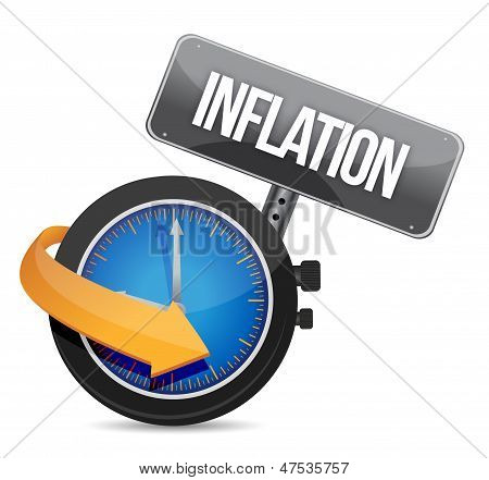 Inflation Concept Illustration Design