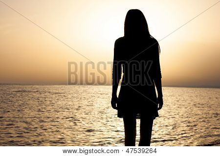Woman's Portrait As Silhouette