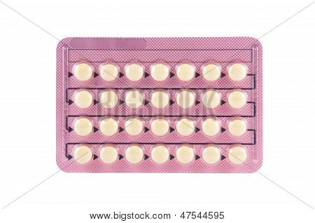 Contraceptive Pill In Transparent Blister Pack