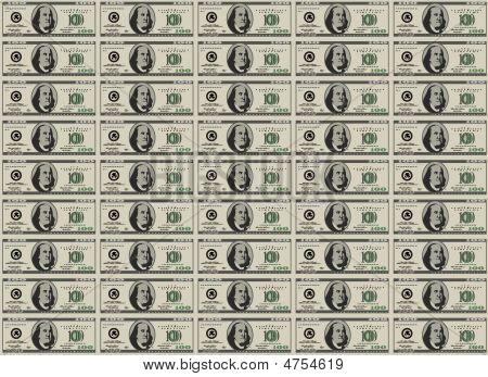 100 Dollar Bills - Money Sheet Stock Vector & Stock Photos   Bigstock