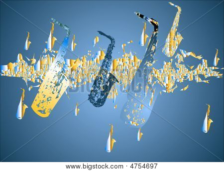 Saxophone Migration - Blue