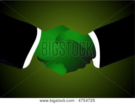 Corporate Handshake - Green