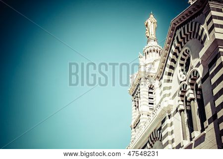 Notre-dame De La Garde (literally Our Lady Of The Guard), Is A Basilica In Marseille, France. This O