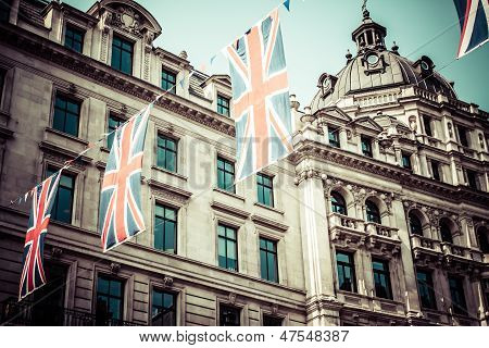 Regent Street Is One Of The Major Shopping Streets In Europe, London