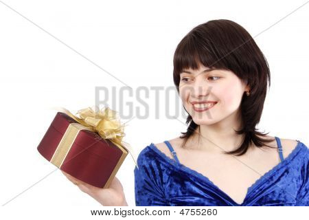 Woman With Gift.