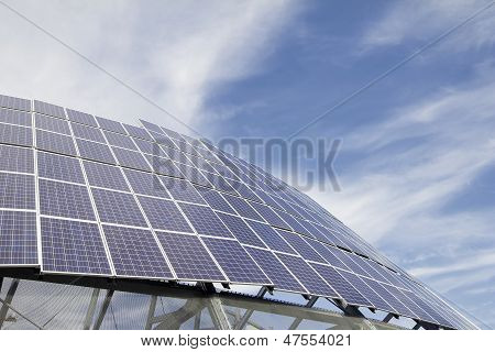 Group Of Solar Panel Modules