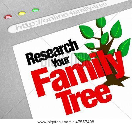 Eine online-Datenbank für die Erforschung Ihrer Stammbaum und auf einer Webseite-Bibliothek des historischen Erbes
