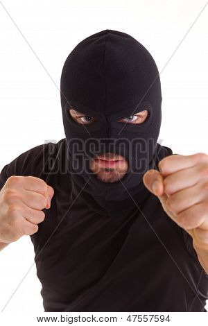 Criminal With Balaclava Pull Any Punches