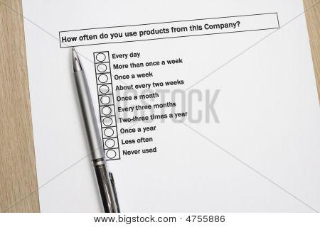 Product Survey