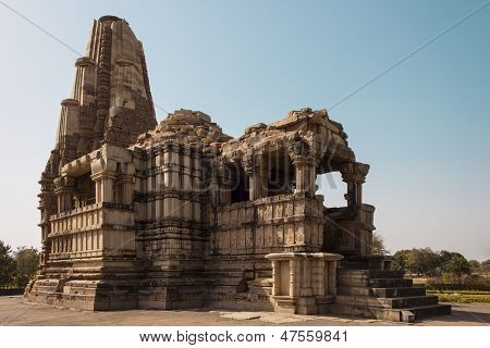 General View Of The Temple Duladeo At Khajuraho