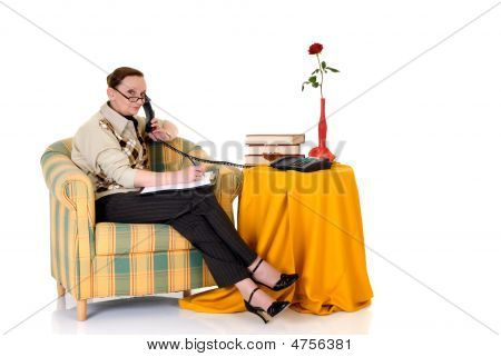 Businesswoman Working Home