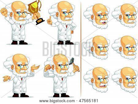Scientist Or Professor Customizable Mascot 7