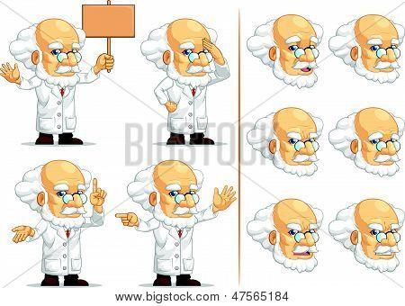 Scientist Or Professor Customizable Mascot 8
