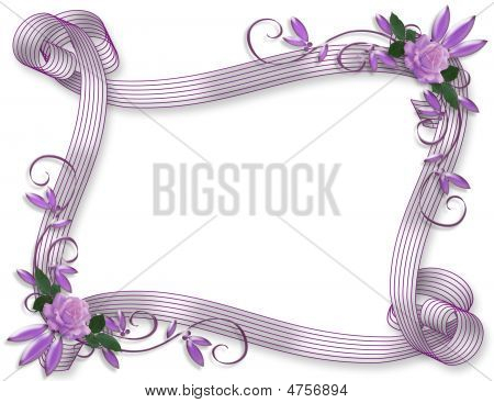 Ribbons And Rosesfloral  Border