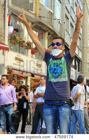 Protest at Istiklal Street