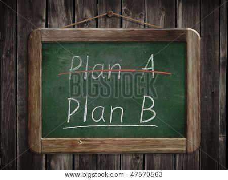 Plan A plan B concept