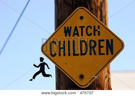 Child Coming Off Sign