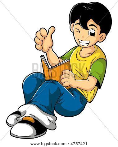 Smart Kid Reading Book