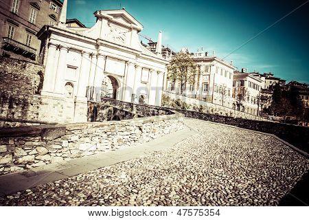 Old European Street, Bergamo, Italy