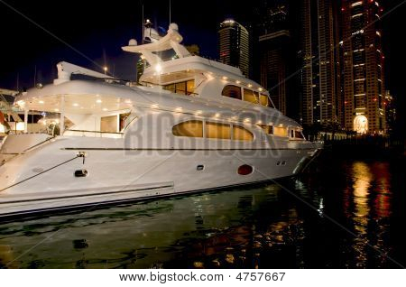 Super Yacht In The Night