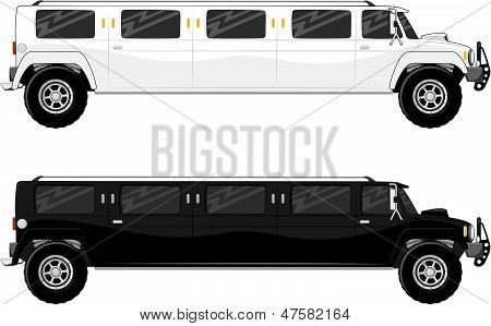 vip limo truck isolated