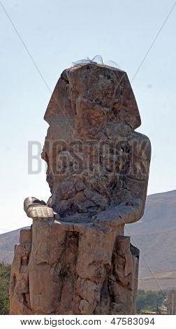 colossus of memnon, luxor egypt june 2013