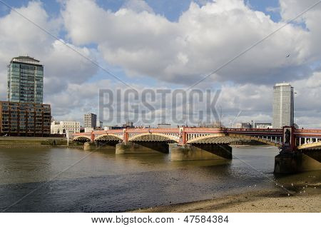 Vauxhall Bridge over River Thames