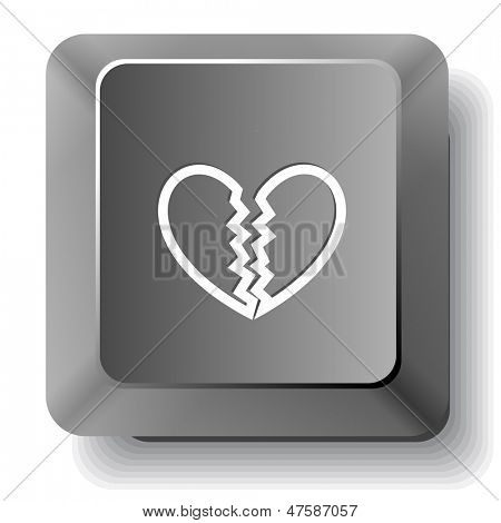 Unrequited love. Vector computer key.