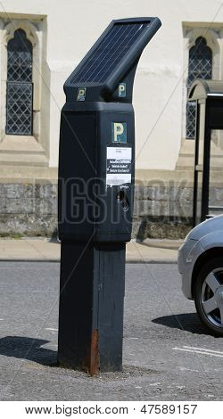 Solar powered parking meter