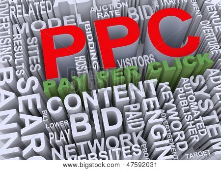 3D Concept Of Ppc - Pay Per Click