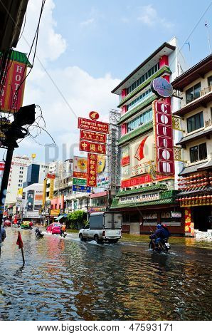 The Worst Flooding In Bangkok's Chinatown
