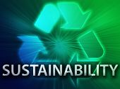 picture of environment-friendly  - Recycling symbol eco environment friendly sustainability illustration - JPG
