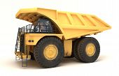 picture of earth-mover  - 3D illustration of isolated earth mover vehicle - JPG
