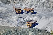 stock photo of mines  - Abestos mine - JPG