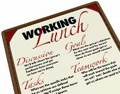 picture of goal setting  - A Working Lunch agenda menu for setting goals - JPG