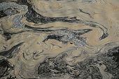 picture of water pollution  - polluted and contaminated water with toxic chemicals - JPG