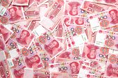 pic of yuan  - a chinese yuan on the table  - JPG