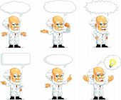 stock photo of scientist  - A vector set of scientist/professor in many poses. Drawn in cartoon style, this vector is very good for design that need science element in cute, funny, colorful and cheerful style.