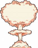 picture of nuke  - Nuclear explosion on a white background vector illustration - JPG