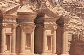 pic of petra jordan  - The Monastery in the ancient city of Petra - JPG